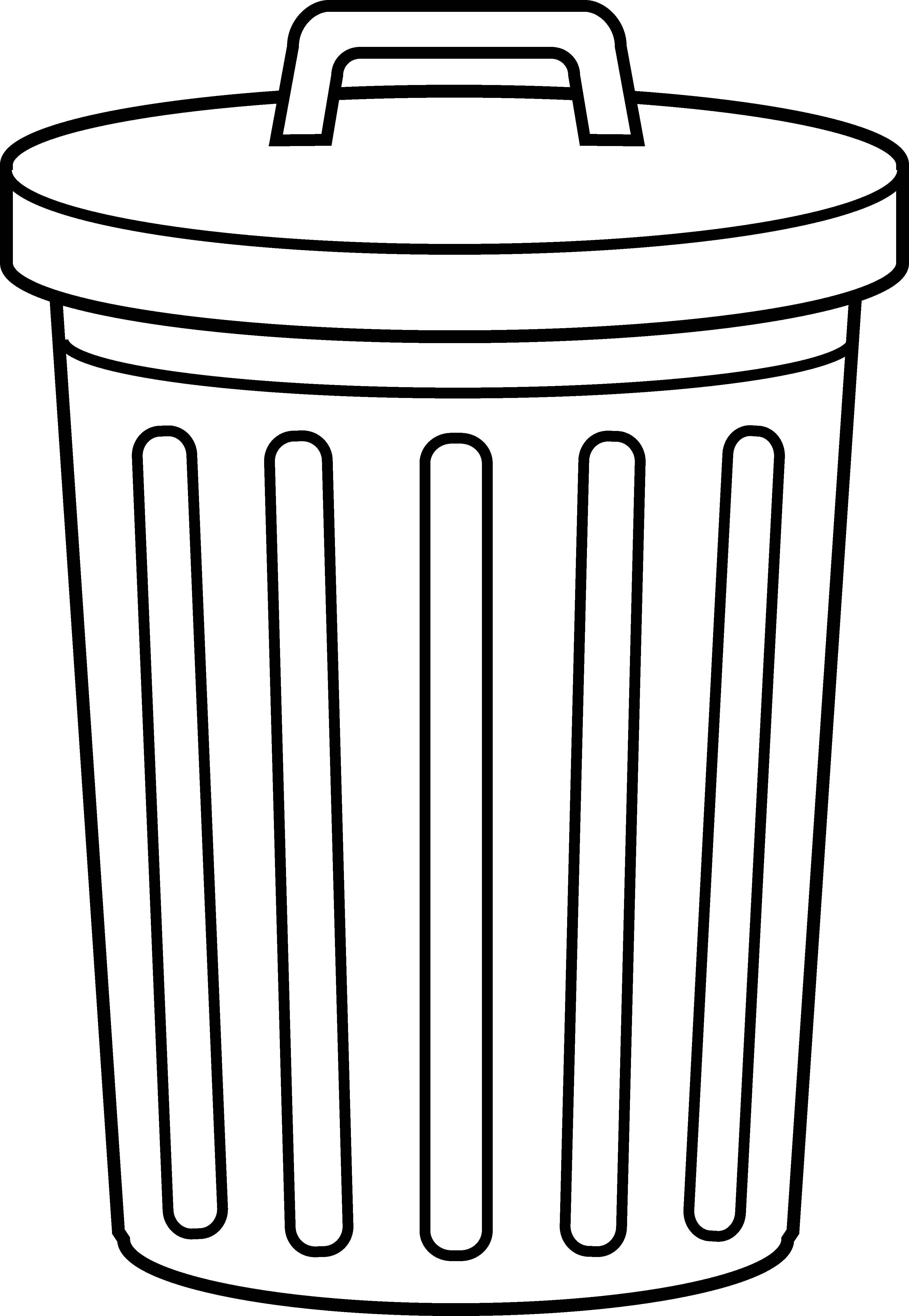 Trash cans clipart.