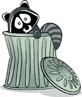 Raccoon in The Trash!.