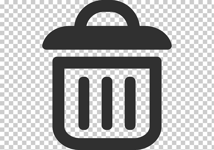 Text symbol brand, Trash, gray trash bin PNG clipart.
