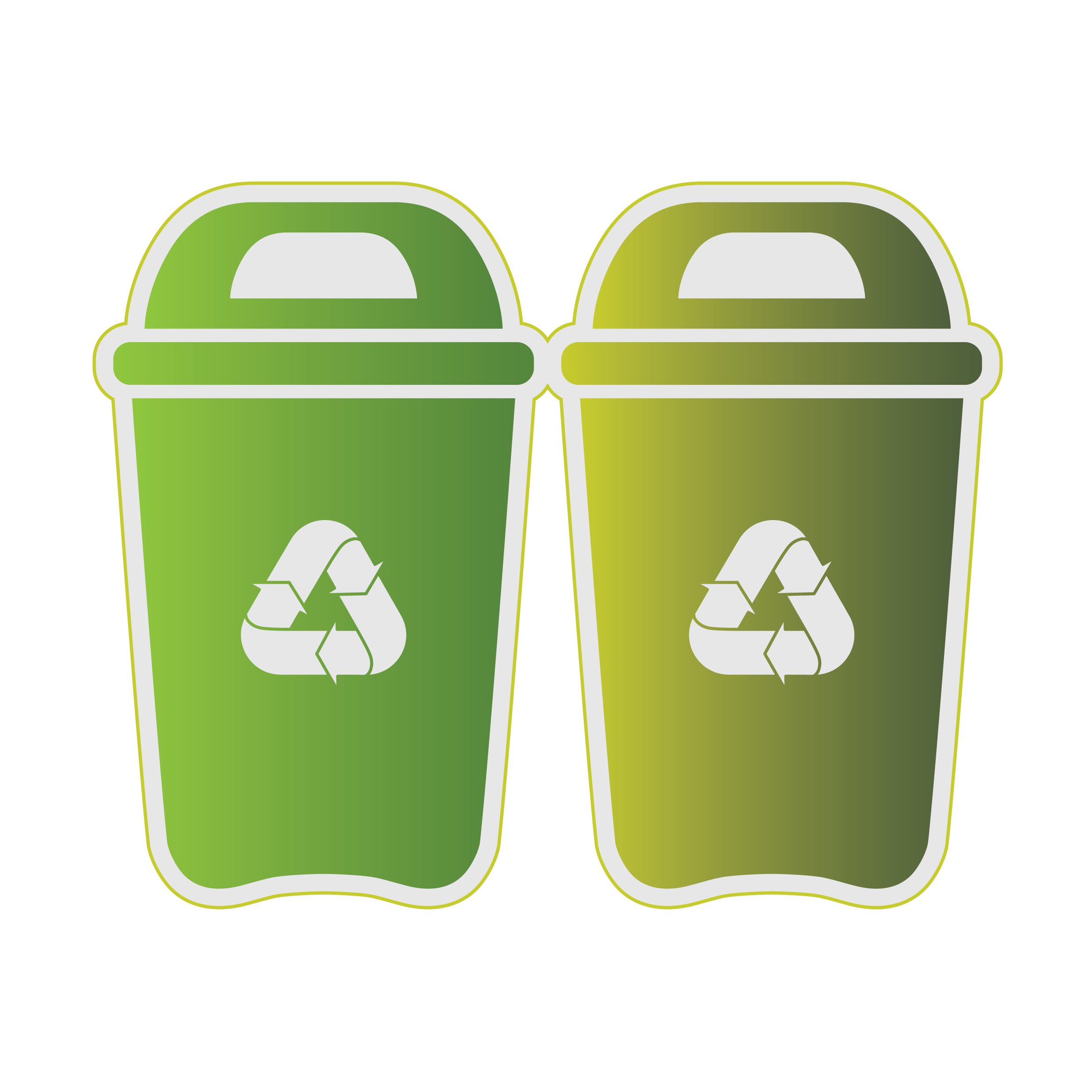 Waste container Recycling Clip art.