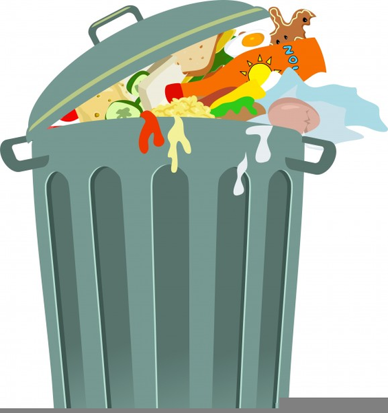 Full Trash Can Clipart.