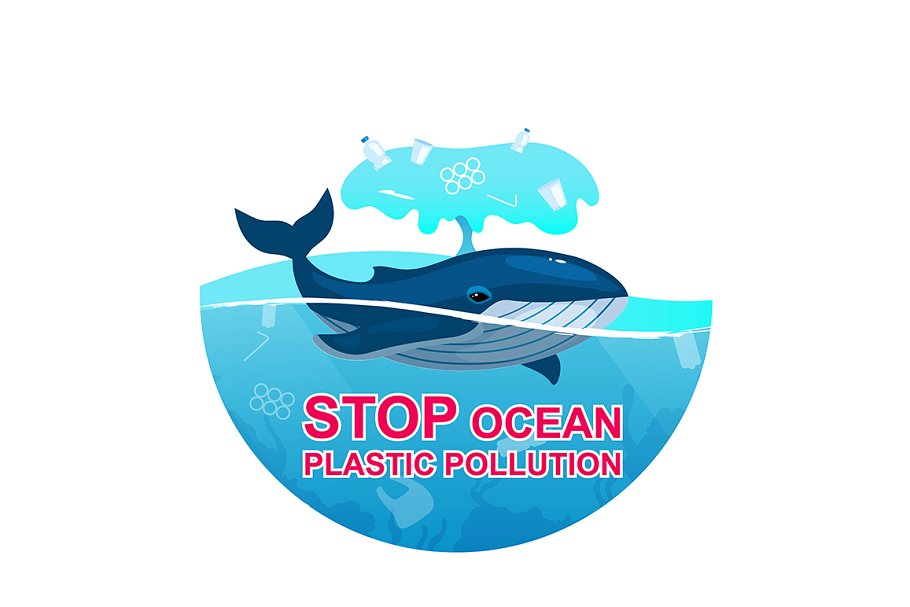 Stop plastic pollution in ocean.