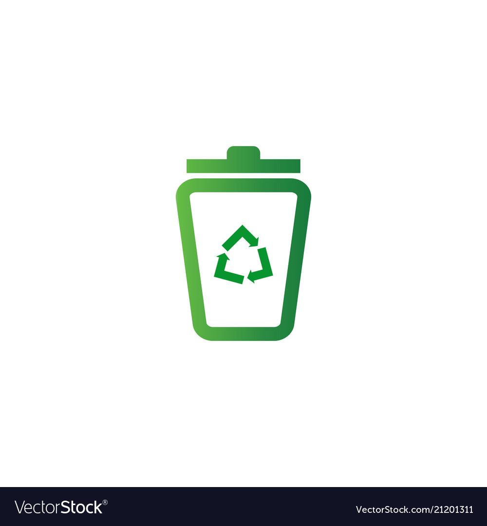Trash bin logo design template.