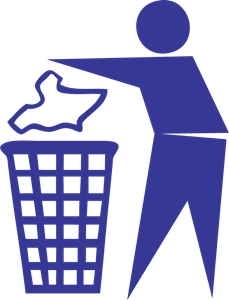 Throw Away Your Trash Logo Vector (.EPS) Free Download.