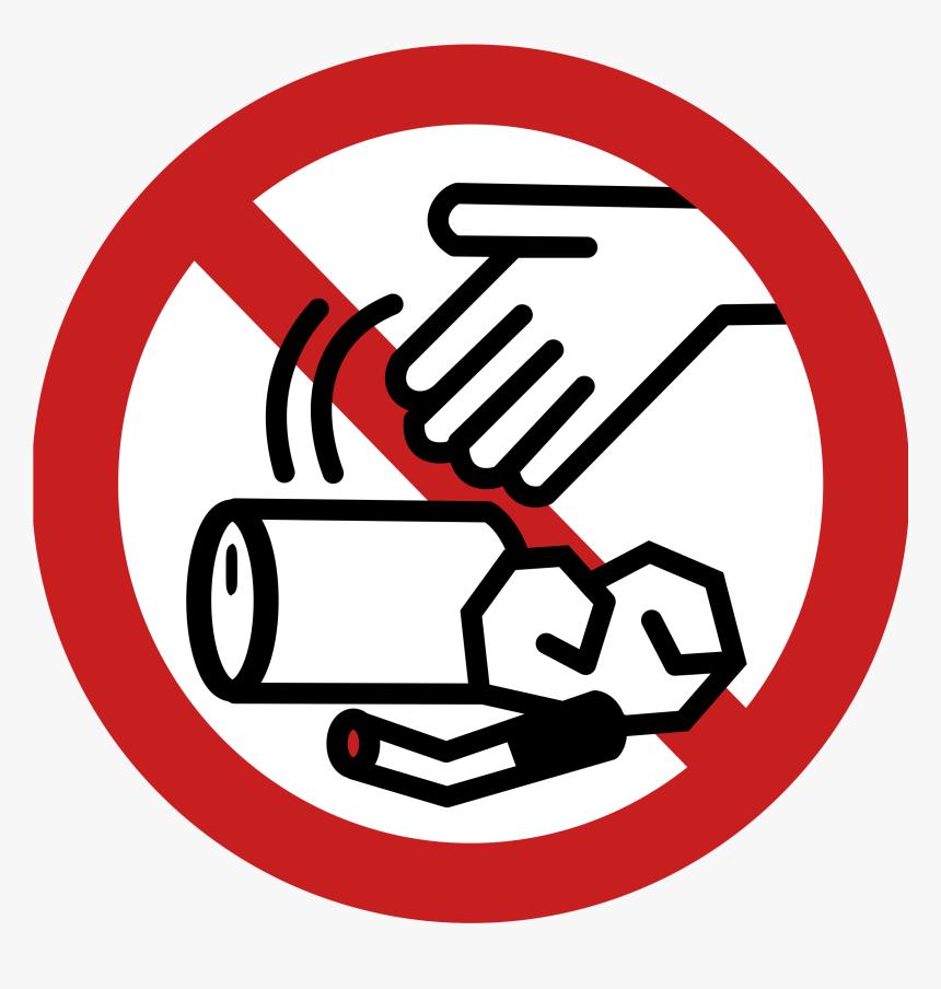 Litter Sign Clip Art.