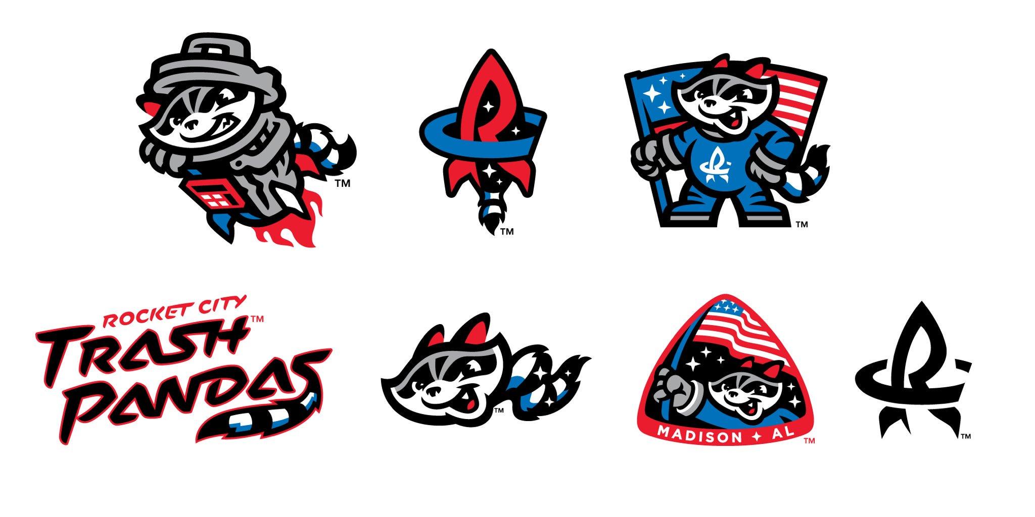Rocket City Trash Pandas Logos Unveiled.