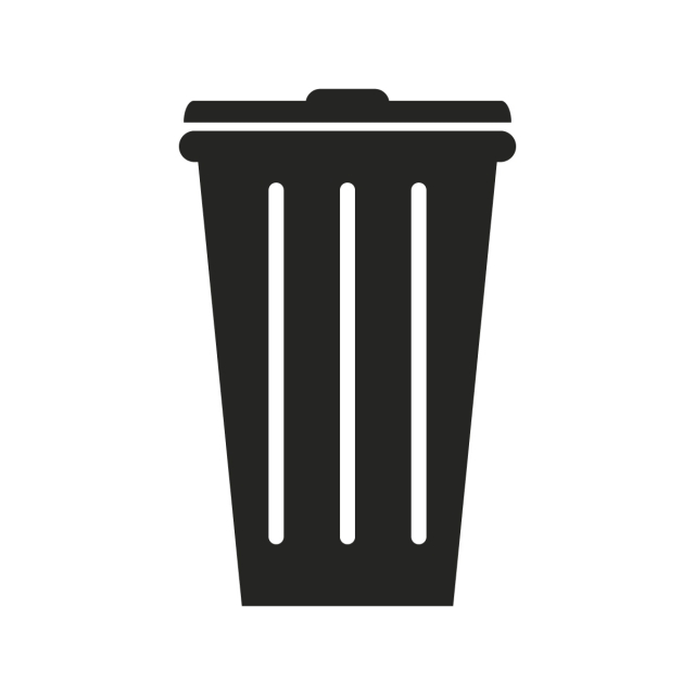 Trash Bin Icon, Clean, Thin, Trash PNG and Vector with.