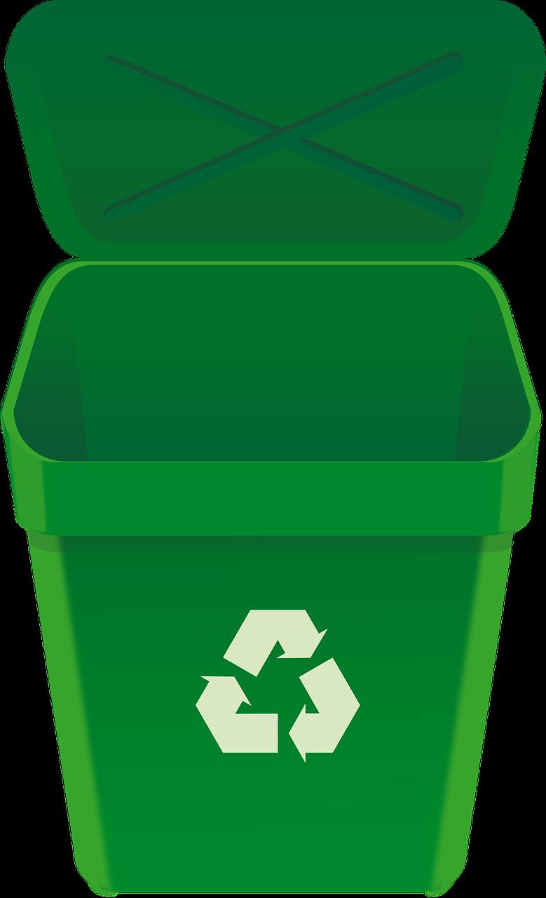 Green bin clipart.