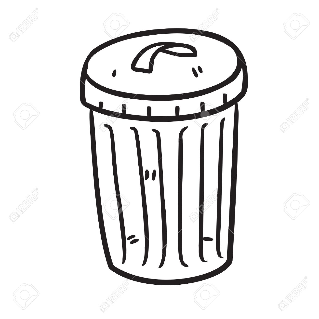Trashbin clipart clipground for Simple art from waste