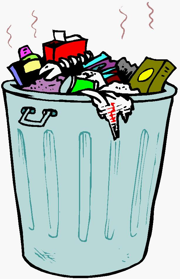 Shark Garbage Can Clipart.