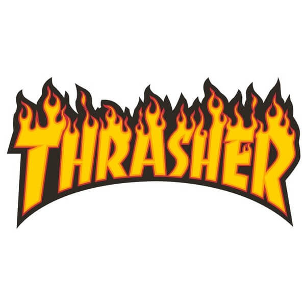 Thrasher Magazine Flame Logo Small Assorted Colors Skate Sticker.