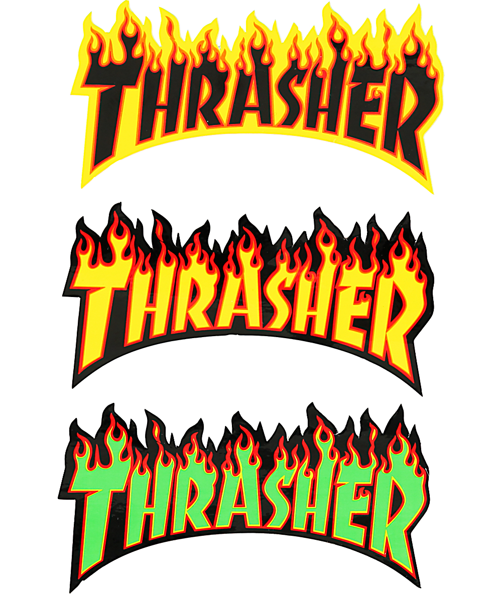 Thrasher Flame Logo Sticker.