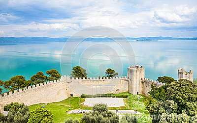 View Of Trasimeno Lake (Italy) Stock Photo.