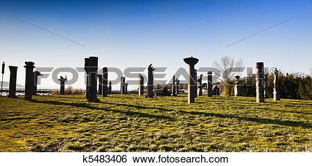Stock Images of Historic monument for Hannibal, Lake Trasimeno.