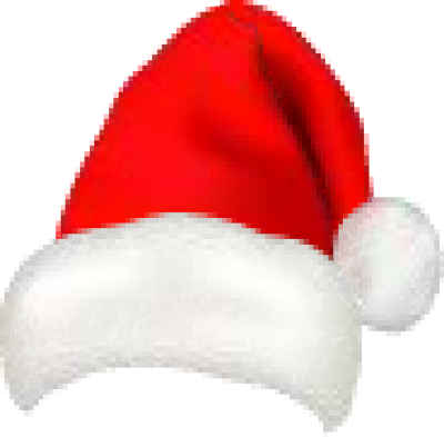 Transparent santa hat with mistletoe picture cliparts.
