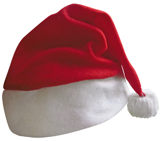 Transparent Santa Hat PNG Picture.