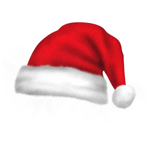 Christmas Santa Claus Hat PNG Transparent Images.