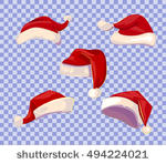 4578 santa hat clipart transparent background.