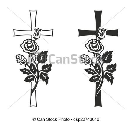 Clipart trauer rose.