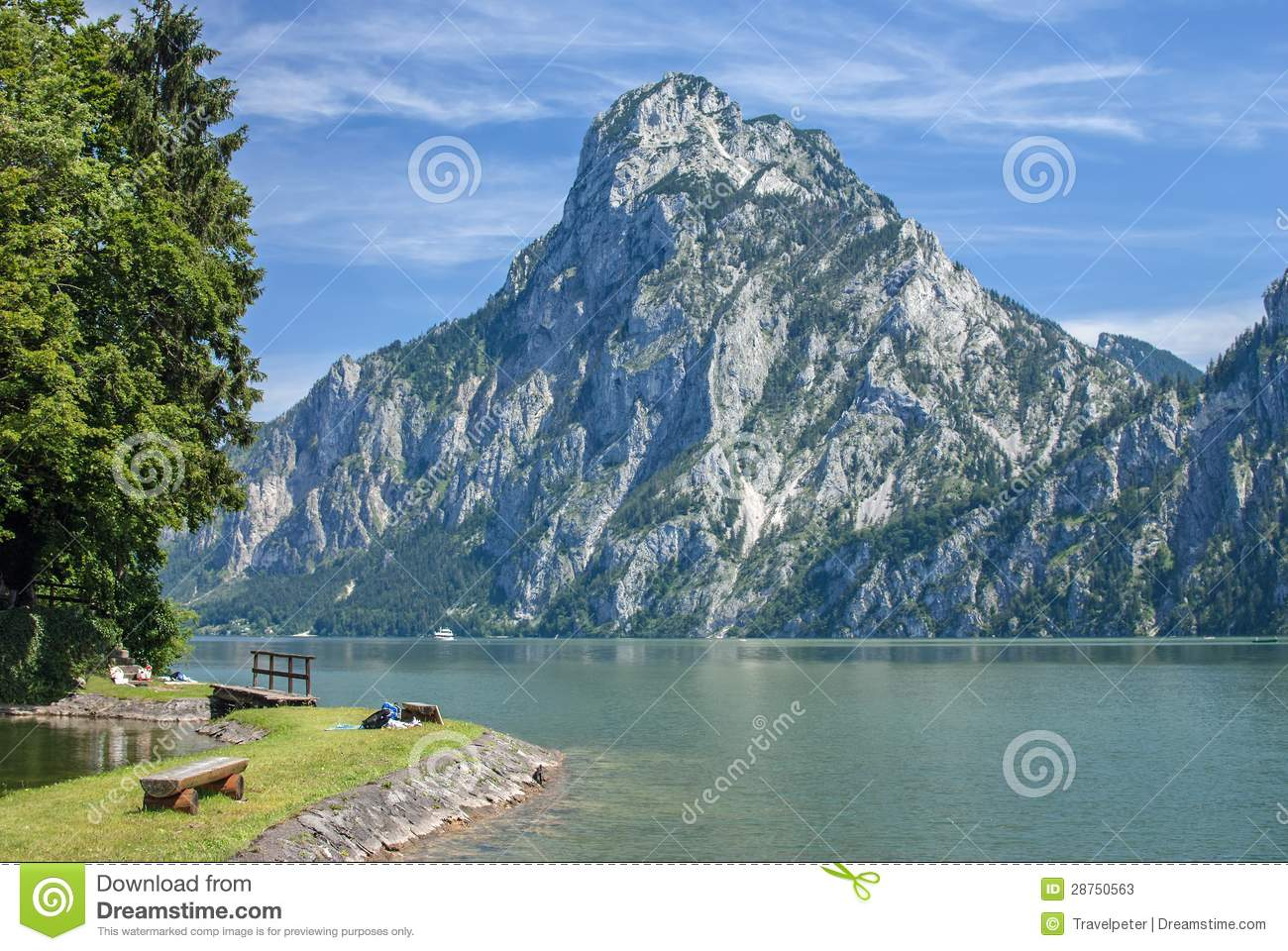 Traunkirchen,Lake Traunsee,Austria Stock Photos.