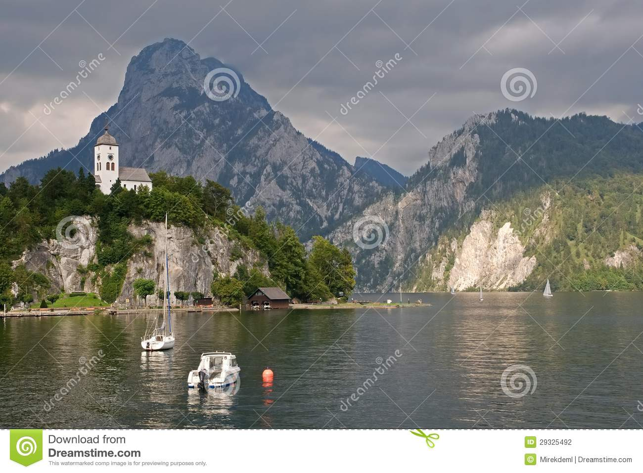 Traunkirchen And Traunsee, Austria Stock Photography.