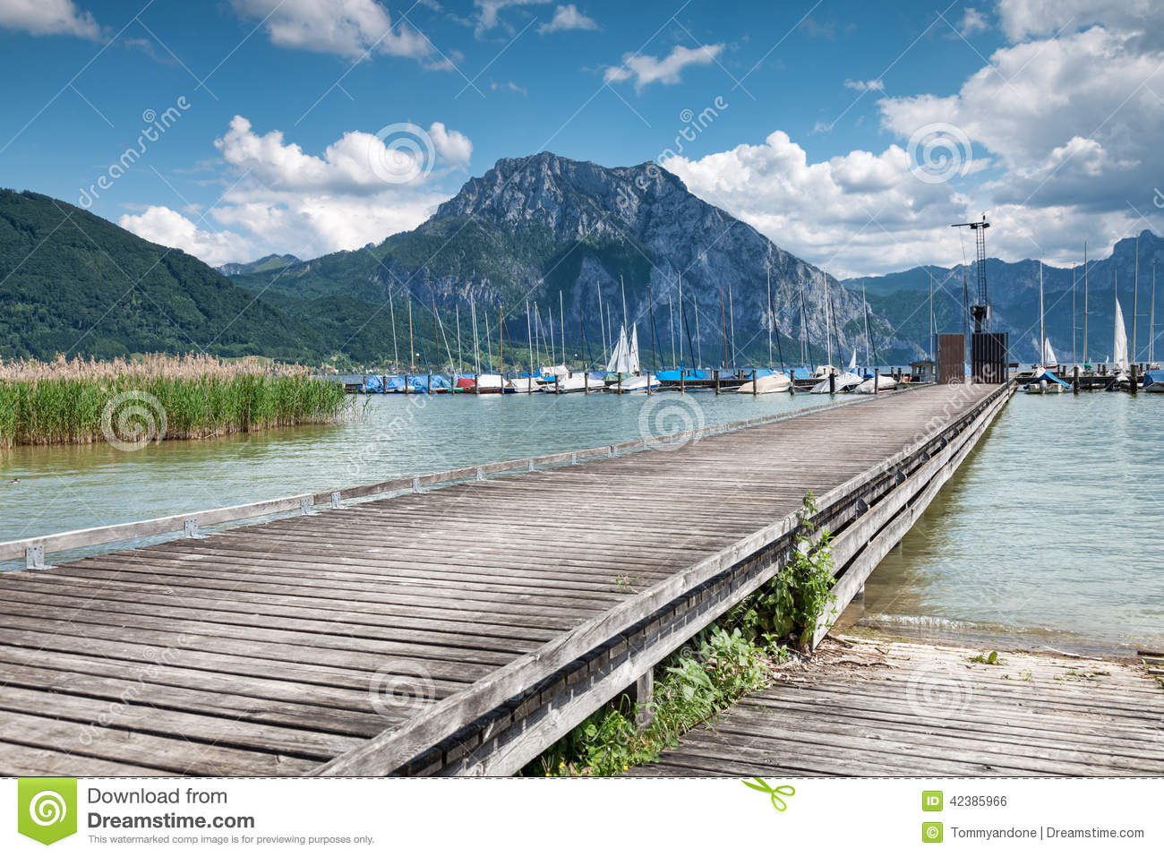 Beautiful Traunsee Lake In Austria Stock Photo.