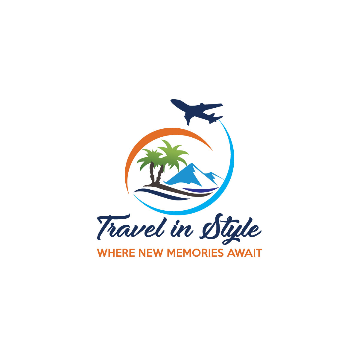 Masculine, Colorful, Travel Agent Logo Design for Travel in.