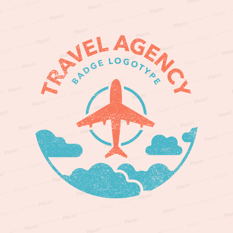 Travel Agency Logo Maker with Travel Graphics a1202.