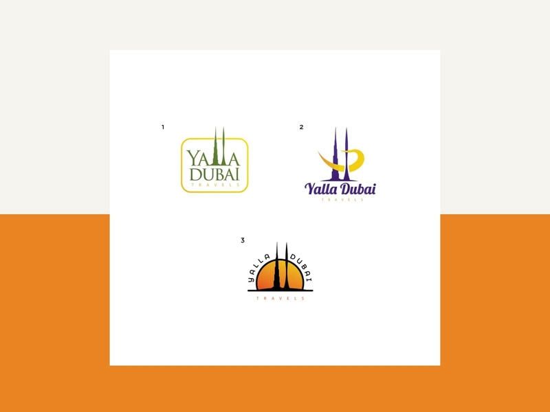 Logo Design for Dubai Travel Agency (Yalla Dubai) by.