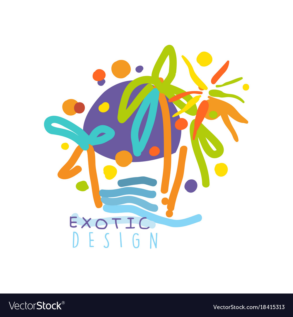 Logo for travel agency with exotic sightseeing.