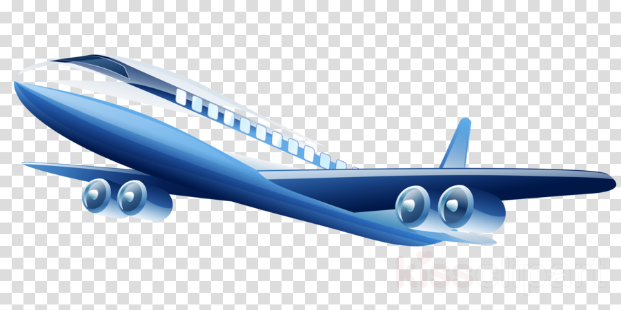 airplane air travel airline airliner blue clipart.