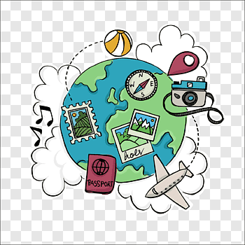 Travel World cutout PNG & clipart images.