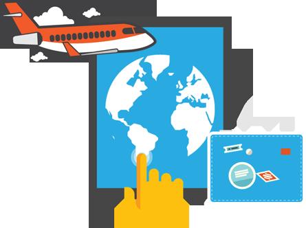 GDS flight booking system.