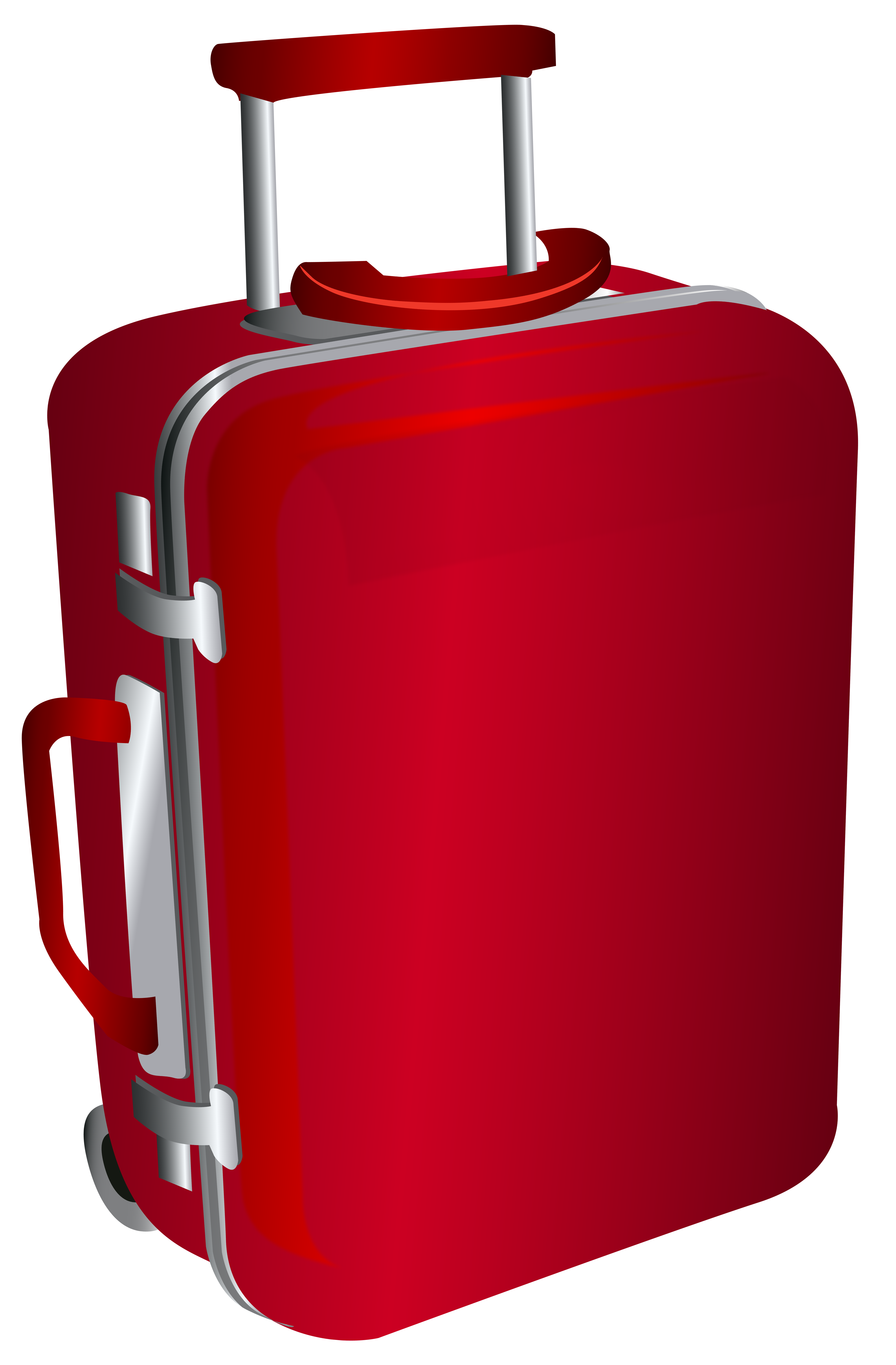 Red Trolley Travel Bag PNG Clipart Image.
