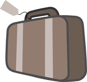 Travel bag clipart.