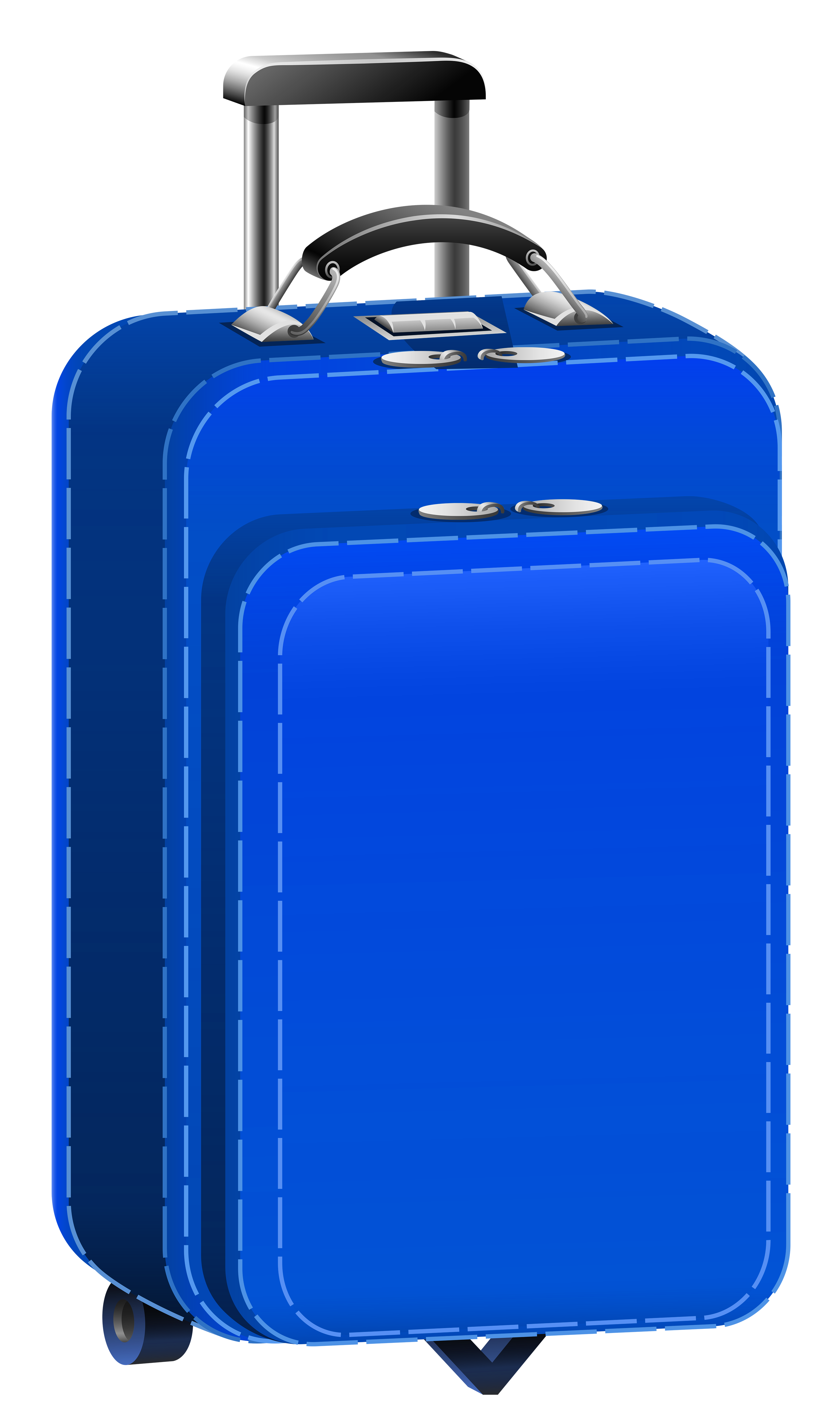 Blue Travel Bag PNG Clipart Picture.