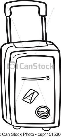 Vector Clipart of Travel bag doodle csp11515306.