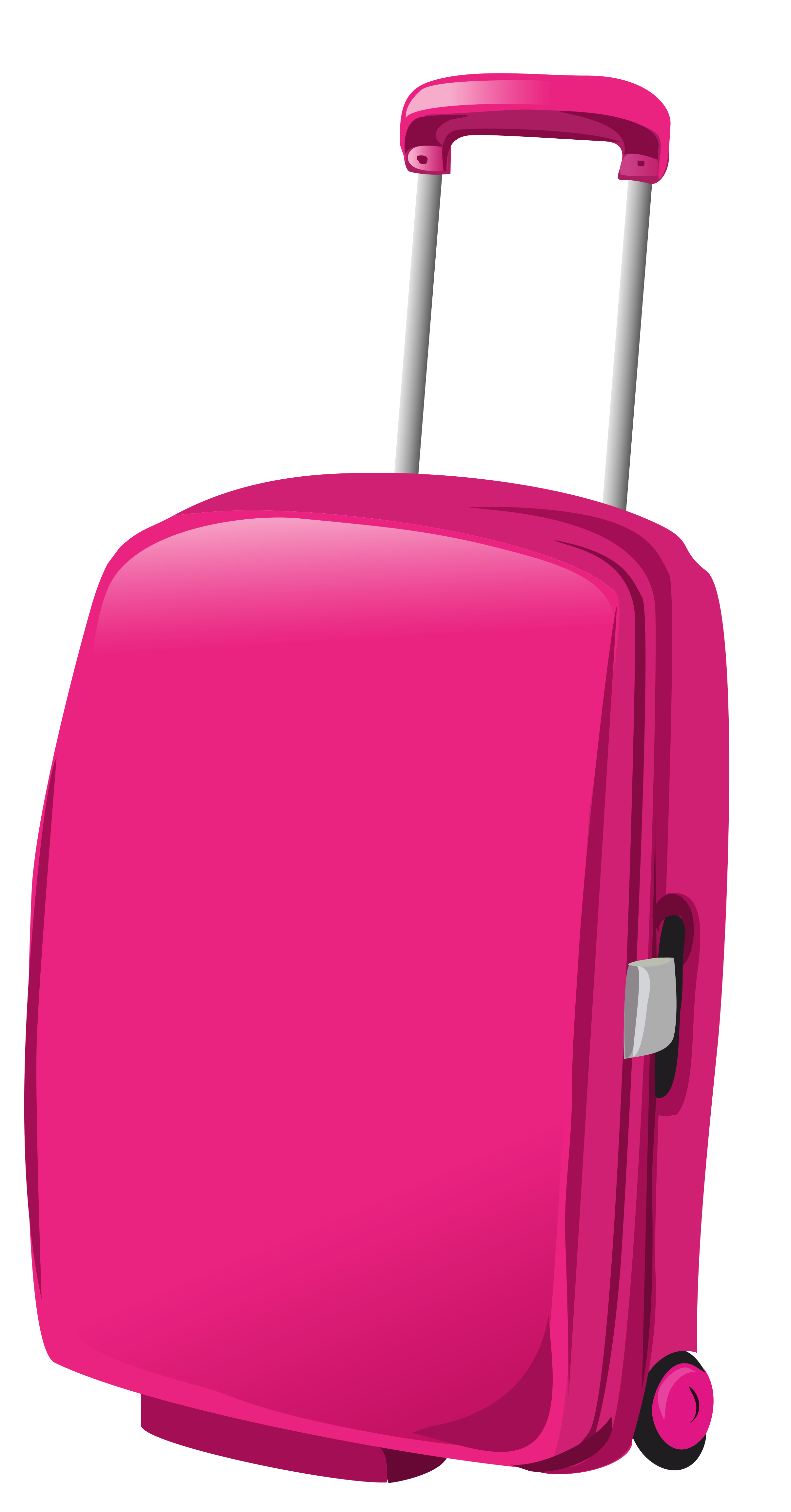 Pink Travel Bag PNG Clipart Picture.