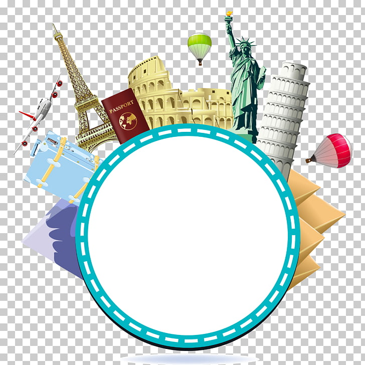 Travel Tourism Illustration, Travel Themes PNG clipart.