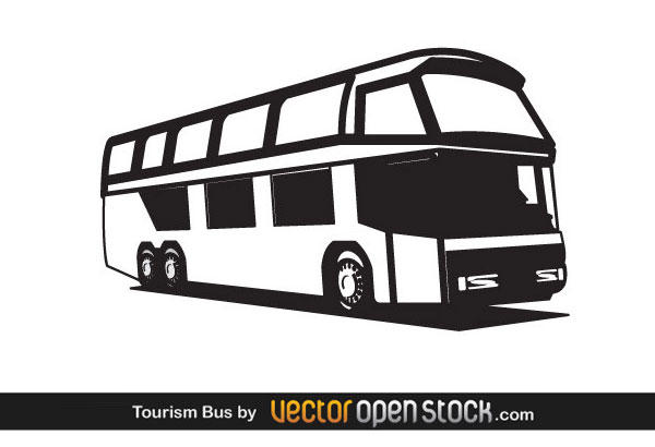 Bus black and white travel bus clip art at vector.