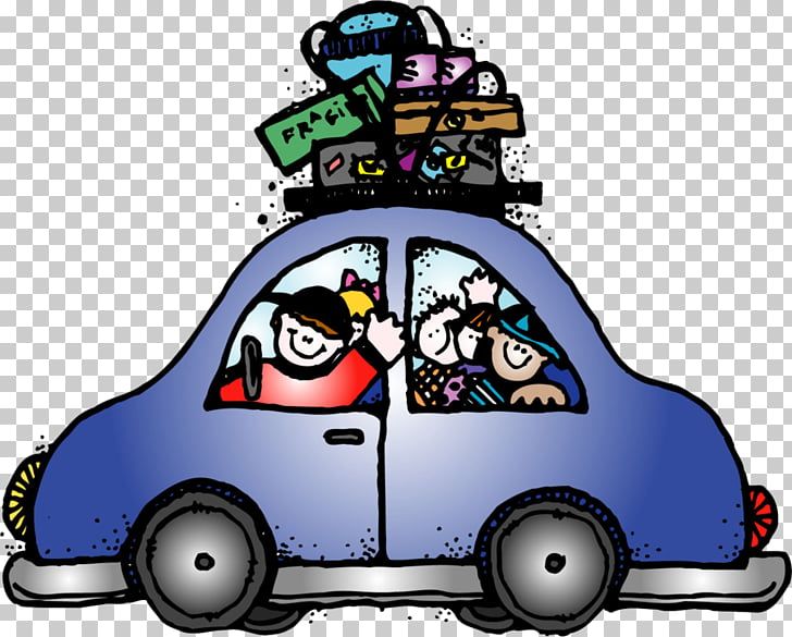 Road trip Travel Car , family vacation PNG clipart.