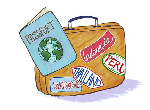 Travel cartoon clip art.