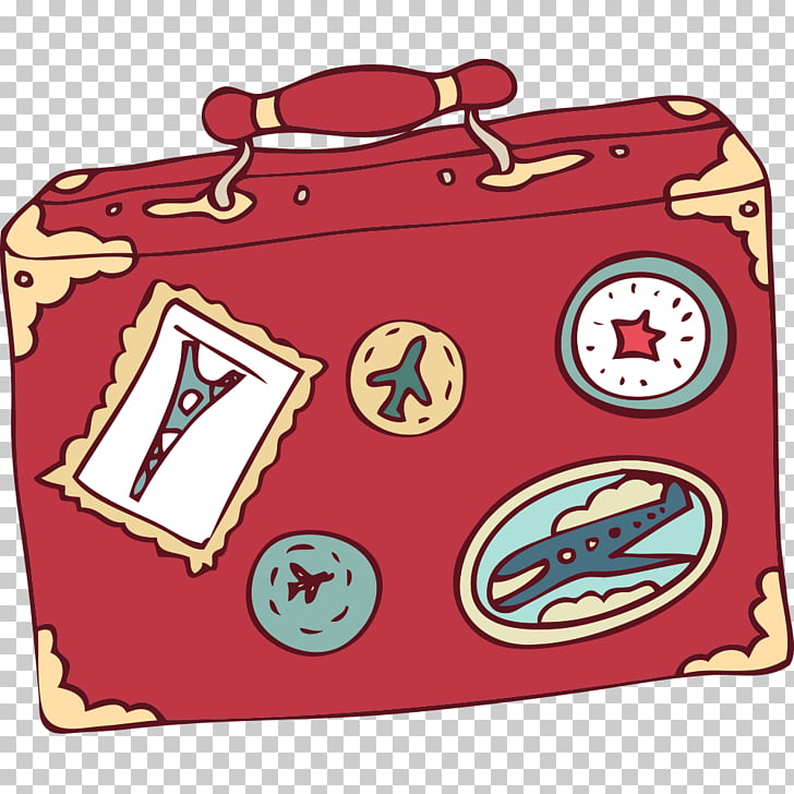 Suitcase Travel Animation, Cartoon suitcase PNG clipart.