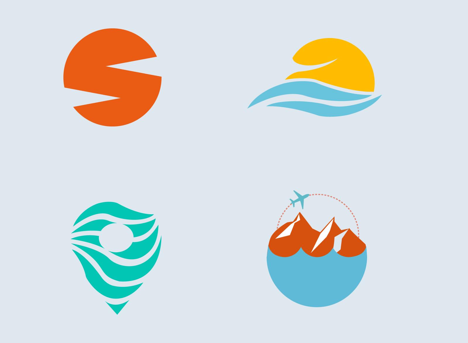 Travel Company Logos by Esma Kurbegović on Dribbble.