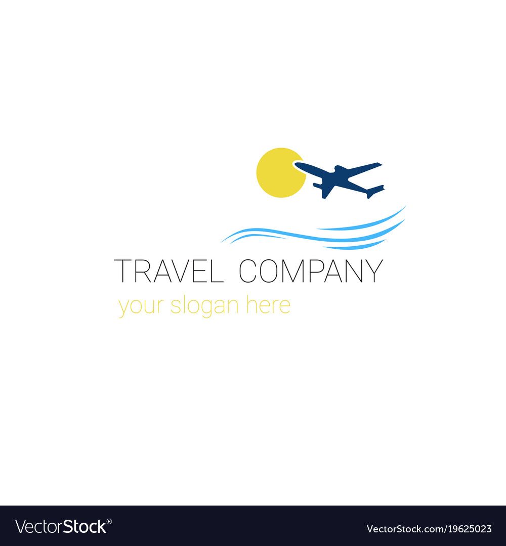 Travel company logo template tourism agency banner.