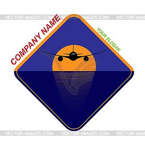 Template for travel company logo, travel company,.