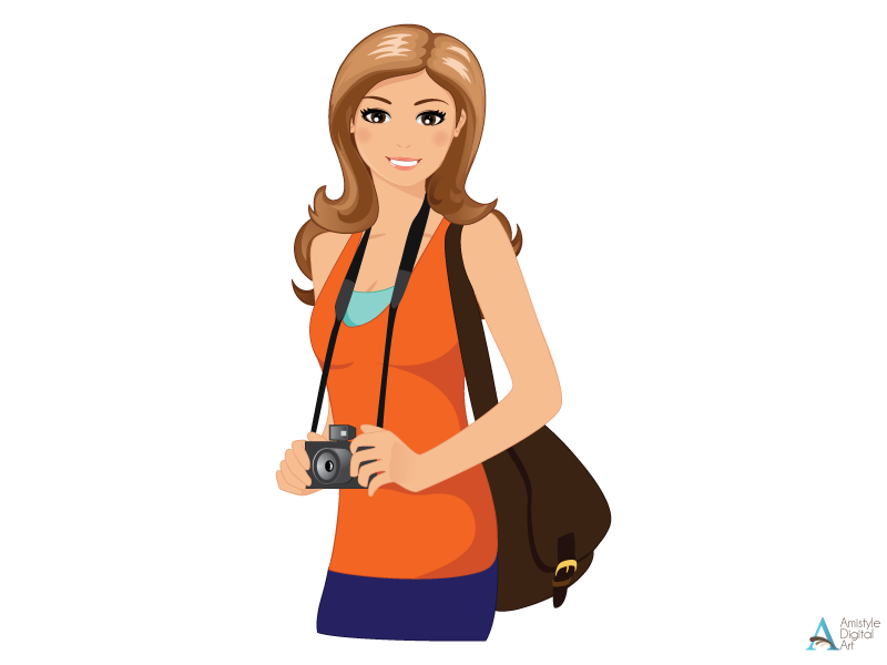 Free Girl Traveling Cliparts, Download Free Clip Art, Free.