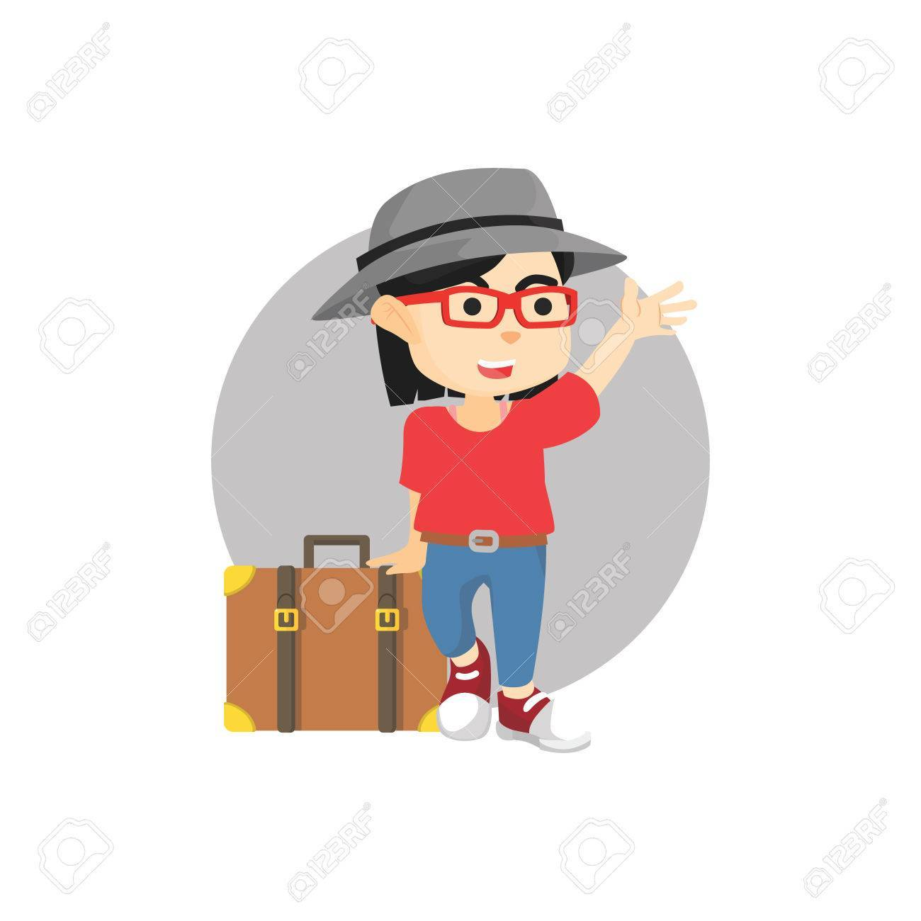 Travel girl clipart » Clipart Portal.