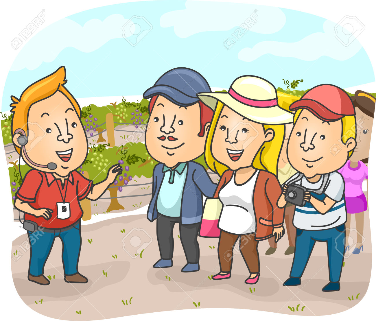 Travel Tour Vineyard Guide » Clipart Station.