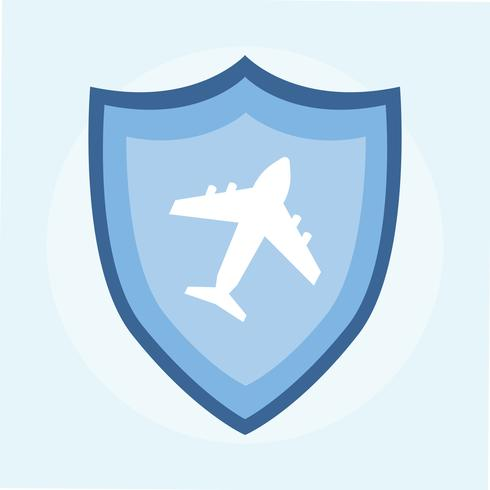 Illustration of a travel insurance icon.